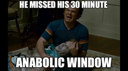 Анаболен прозорец / Нужен ли ни е бърз протеин след тренировка ?