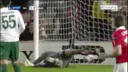 Manchester United vs Bursaspor 1:0 20/10/10 gol na Nani