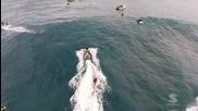 Забележително сърфинг видео заснето от високо