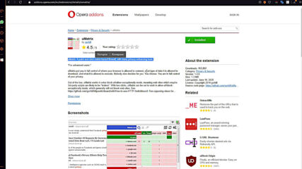 Opera Gx Browser + extensions