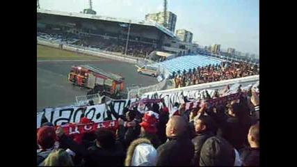 черноморец 2 - 0 Ц С К А (04.03.2012) - Хореография + Химн на България !