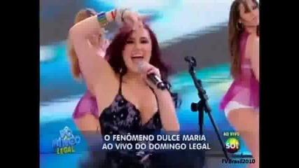 Domingo Legal - Dulce Maria canta Inevitable 15 - 08 - 2010 2