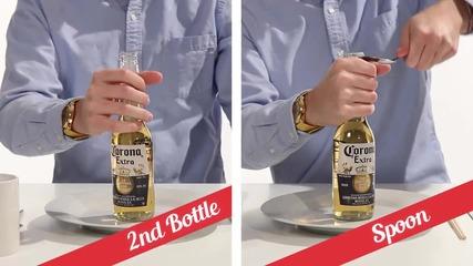 21 начина за отваряне на бутилка