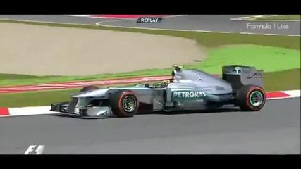 F1 Гран при на Испания 2013 - Hamilton се завърта на Fp2 [hd][onboard]