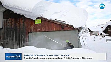 В Алпите продължава контролираното взривяване на лавини