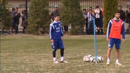 Меси тренира на пълни обороти с Аржентина