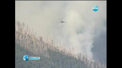 Пожарът на Витоша продължава да бушува