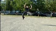 Урок за акробатичен ритник 540