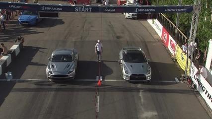 Aston Martin Vanquish (2013) vs Bmw M5 F10 vs Nissan Gt-r