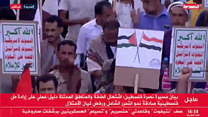 Yemen: Thousands pledge support to Palestine at massive rally in Sana'a