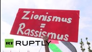 "Switzerland: ""We want a motion, Israel expulsion"" sing FIFA protesters"