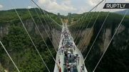 Do Look Down on the World's Longest Glass-Bottom Bridge