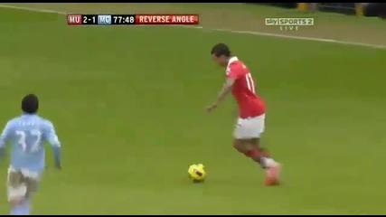 Манчестър Юнайтед 2 - 1 Манчестър Сити ( Страхотен гол на Руни )