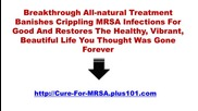 Is Mrsa Curable
