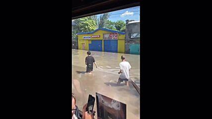 Ukraine: Heavy rainfall floods streets of Odessa