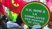 France: Activists protest Turkish brutality against Kurds