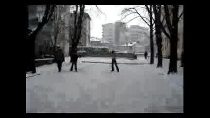 Пързаляне Гол В Снега