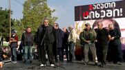 Georgia: Hundreds rally against former president Saakashvili outside Rustavi prison