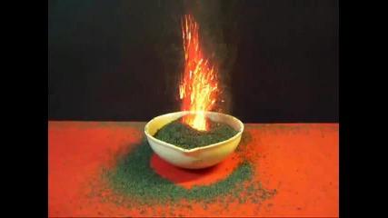 Много яка химична реакция-вулкан