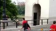 Напрежение и екшън около Националния стадион във Варшава
