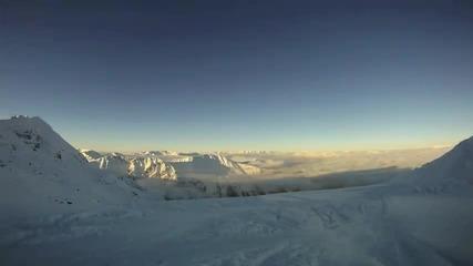Super Slow Motion Alpine Ski