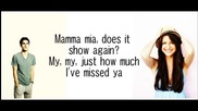 Glee - Mamma Mia (lyrics)