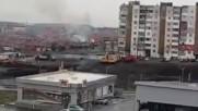 """Пожар и експлозия в бургаския ж.к. """"Меден Рудник"""""""