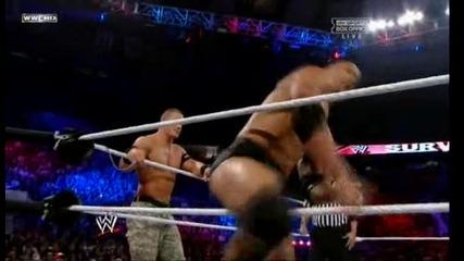 Скалата и Джон Сина срещу Миз/r-truth (wwe Survivor Series 2011) - Част 1