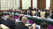 China: Communist Party head Li Zhanshu welcomes Sergei Ivanov in Beijing