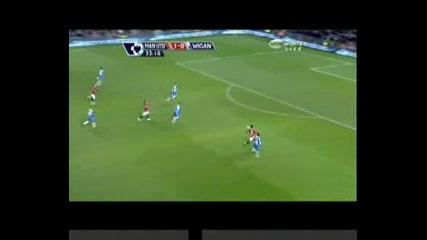 Манчестър Юнайтед - Уигън 1:0, 1-во полувреме