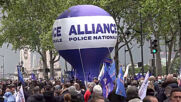 France: Police officers gather in Paris to protest against attacks on colleagues