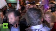 Greece: Tsipras celebrates victory with Athens' Syriza supporters