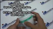 E27 3w Colorful Rotating Rgb 3 Led Spot Light Bulb Lamp for Chrismas Party