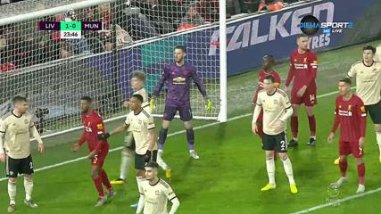 Ливърпул - Манчестър Юнайтед 1:0 /първо полувреме/