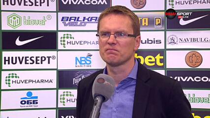 Валдас Дамбраускас: ЦСКА беше по-добър, заслужено е на финал