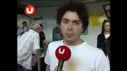 Morandi - interview la aeroport dupa intoarcerea din Russia [2008]