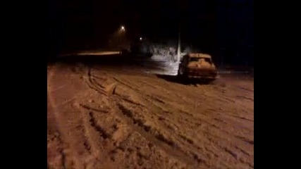 power snow drifting