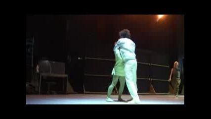 Участници в Sofia Dance Week 2008. Спектакъл на Ultima Vez (Белгия) от 2007 година.
