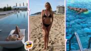 """Венета Райкова в перфектна форма на плажа, организирала морето за """"5 минути"""""""