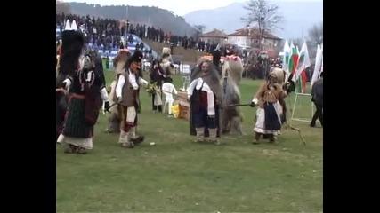 Седми общински фестивал на кукерските и маскарадни игри Симитли 2010 с. Kрупник