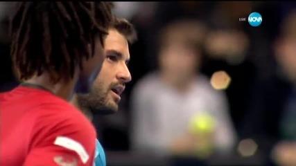 Емоционалният финал на мача между Гришо и Монфис