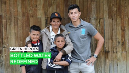 Green Heroes: The project that's turning PET bottles into walls of water