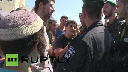 State of Palestine: Illegal settlers clash with Israeli Border Police