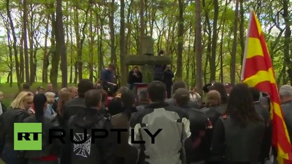 Czech Republic: 'Night Wolves' pay respects at Russian Napoleon victims memorial