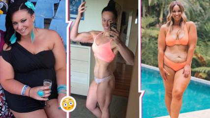Тези снимки ''преди'' и ''след'' са различни! Инфлуенсърка качи 30 кг., чувства се перфектно