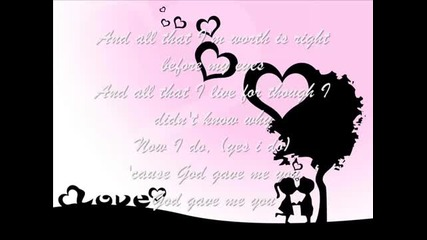Nyoy Volante _ Sabrina. God gave me you (lyrics)
