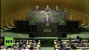 UN: Netanyahu glares at UNGA to condemn 'deafening silence' over Iran