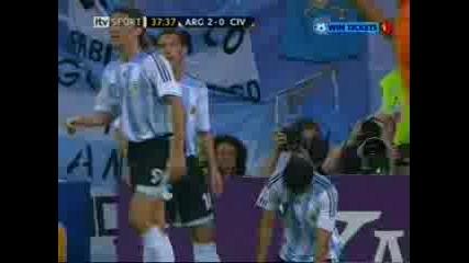 Argentina Vs Ivory Coast - 2 - 0
