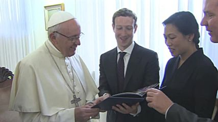 Holy See: Networking at the Vatican - Pope Francis hosts Facebook founder Mark Zuckerberg