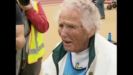 100-годишна баба взе златен медал за хвърляне на гюле